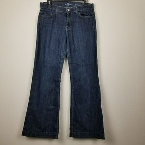 7 for All Mankind Ginger dark wash flare jeans